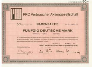 Aktie pro fünfzig Mark 1977