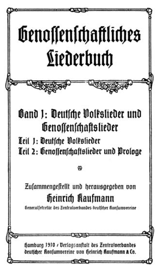 Genossenschaftliches Liederbuch 1910