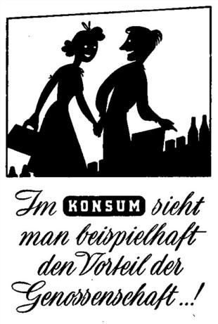 Konsum Vorteile Genossenschaft 1950
