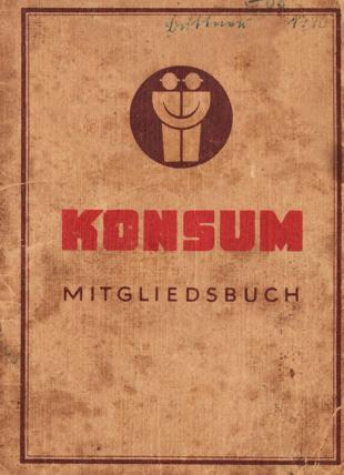 Mitgliedsbuch Konsum Osten 1945