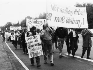 Belegschaft Proteste coop AG 1989