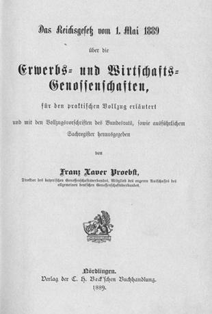 Erwerbs- und Wirtschaftsgenossenschaften 1899