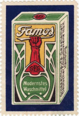 Famos Waschmittel 1910