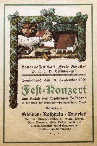 Festkonzert Baugenossenschaft 1920 Berlin