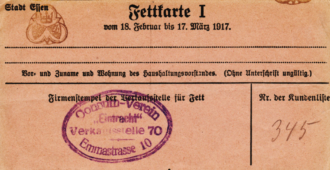 Fettkarte 1917