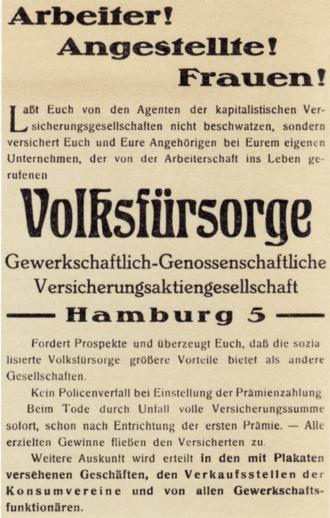 Genossenschaftliche Versicherung 1910