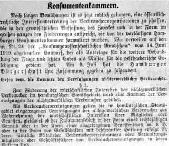 Konsumentenkammern 1919