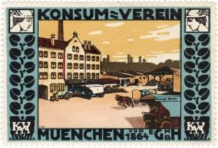 Konsumverein Muenchen-Briefmarke 1910