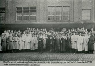 Schlachterei Produktion 1916